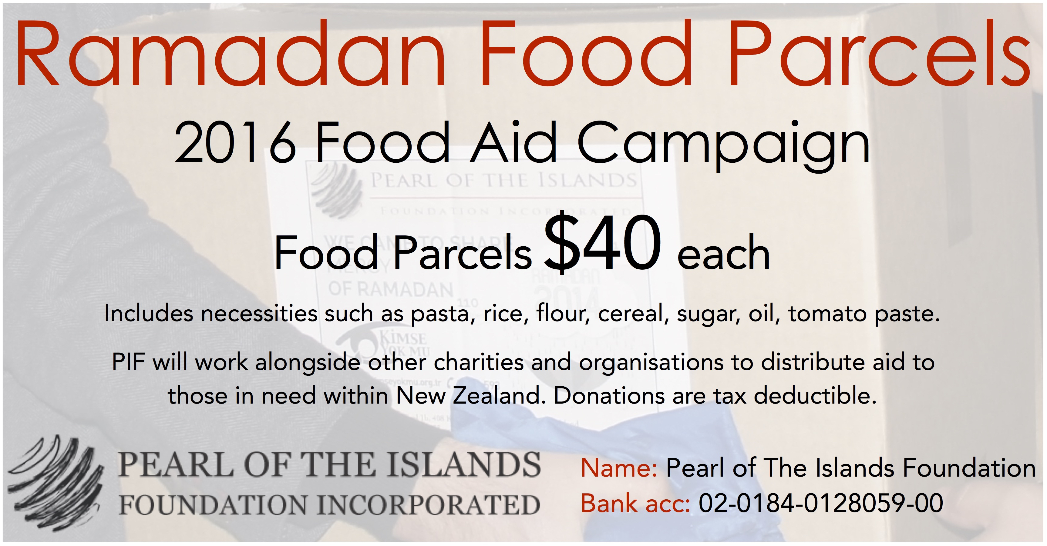 Ramadan Food Parcels – 2016 Food Aid Campaign