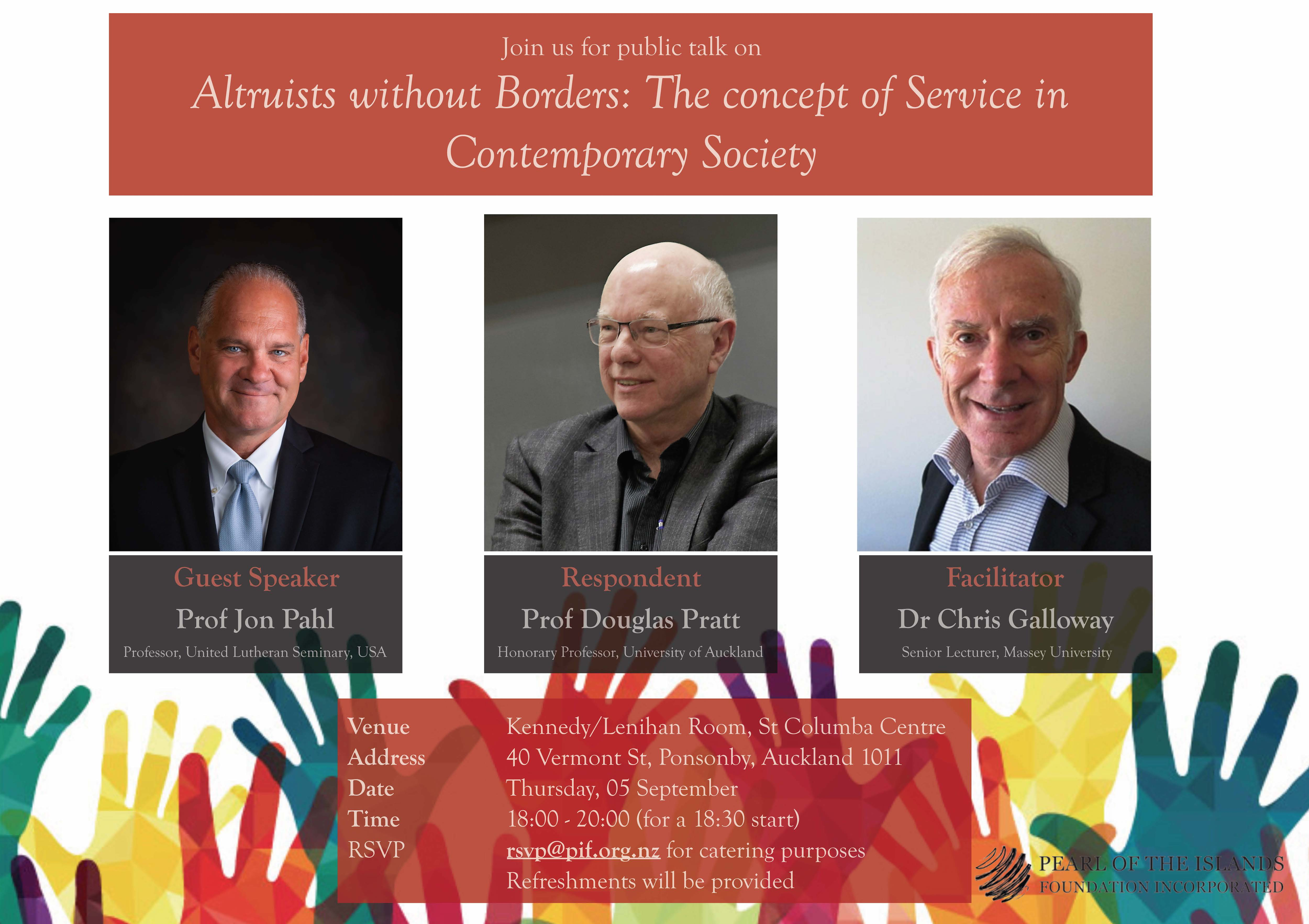 INVITATION: Join us for a talk on 'Altruists without Borders: The concept of Service in Contemporary Society'