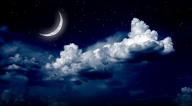 Night-Sky-and-Moon-Wallpaper