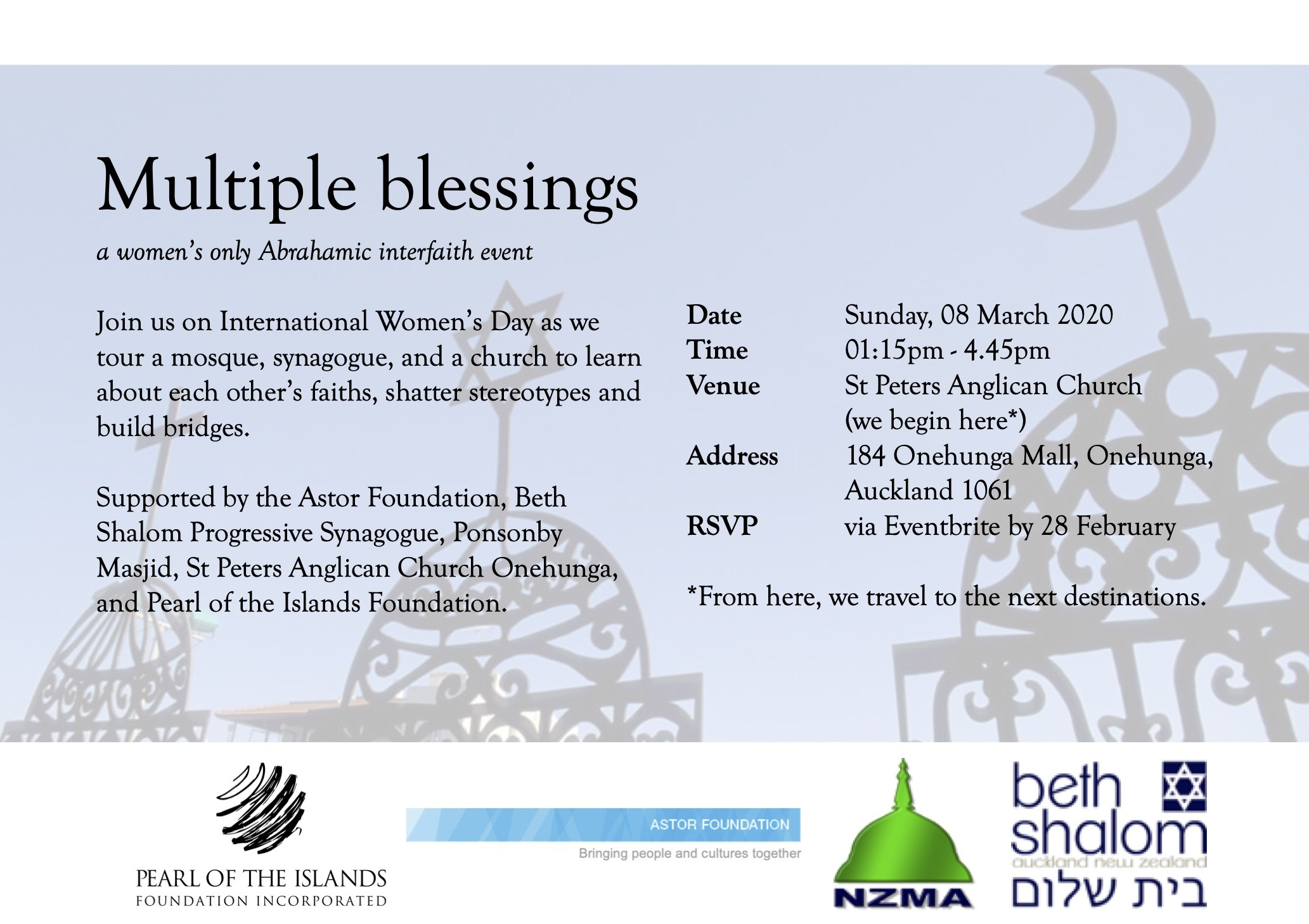Women's only interfaith event: Multiple blessings