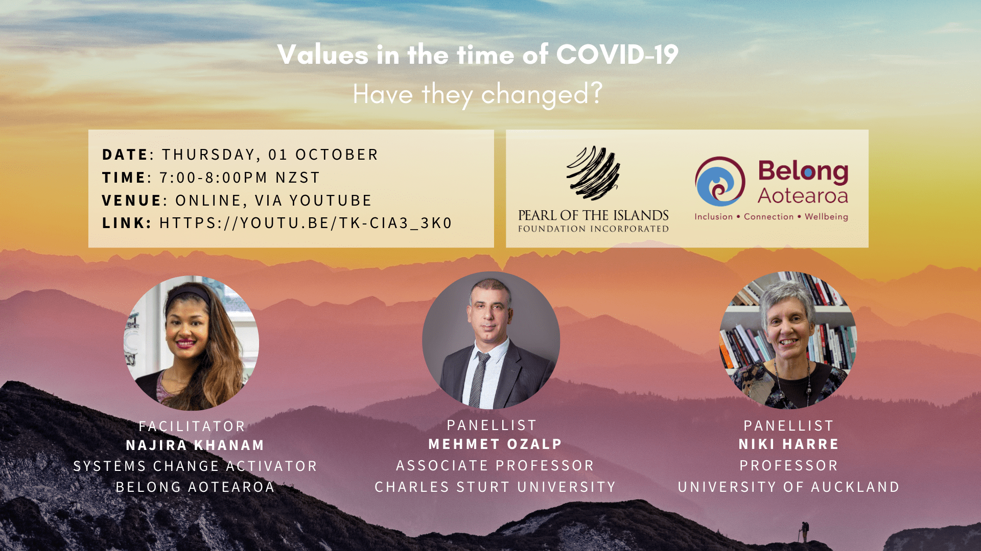 PANEL: Values in the time of COVID-19 - 01 October 2020