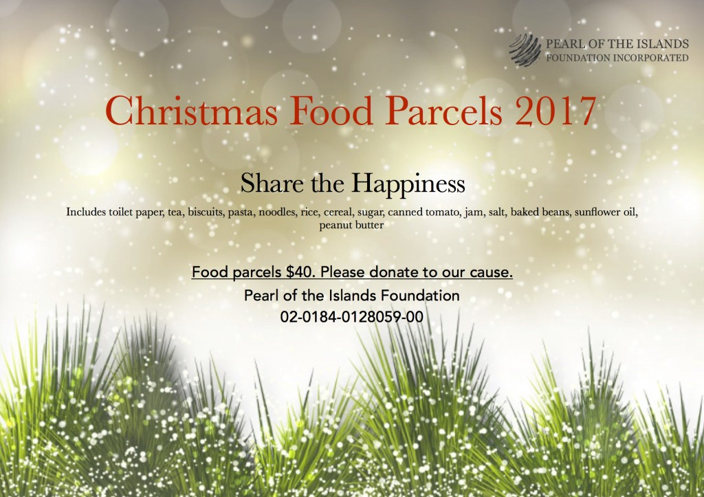 PIF Christmas Food Parcels flyer 2017