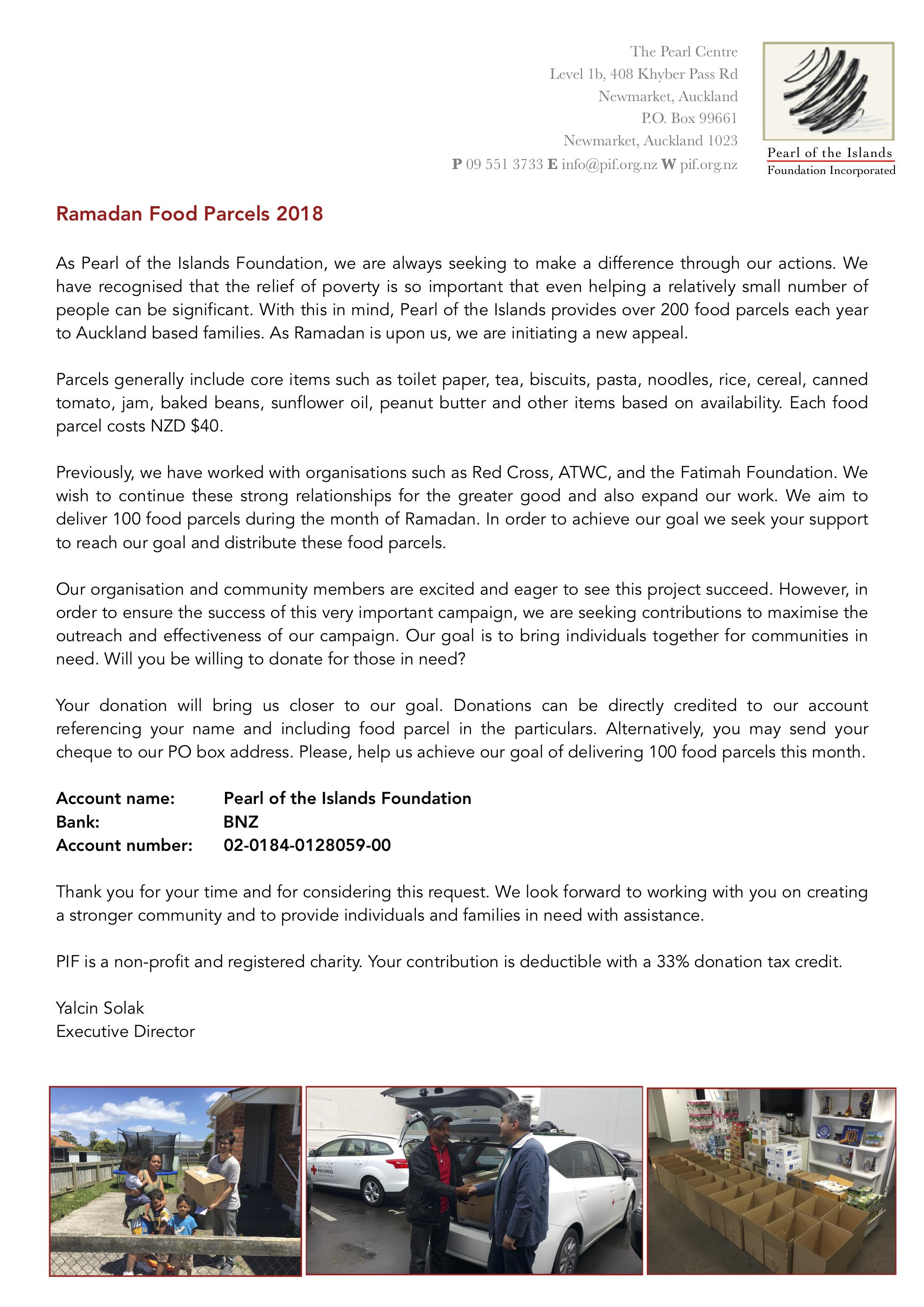 food parcel flyer