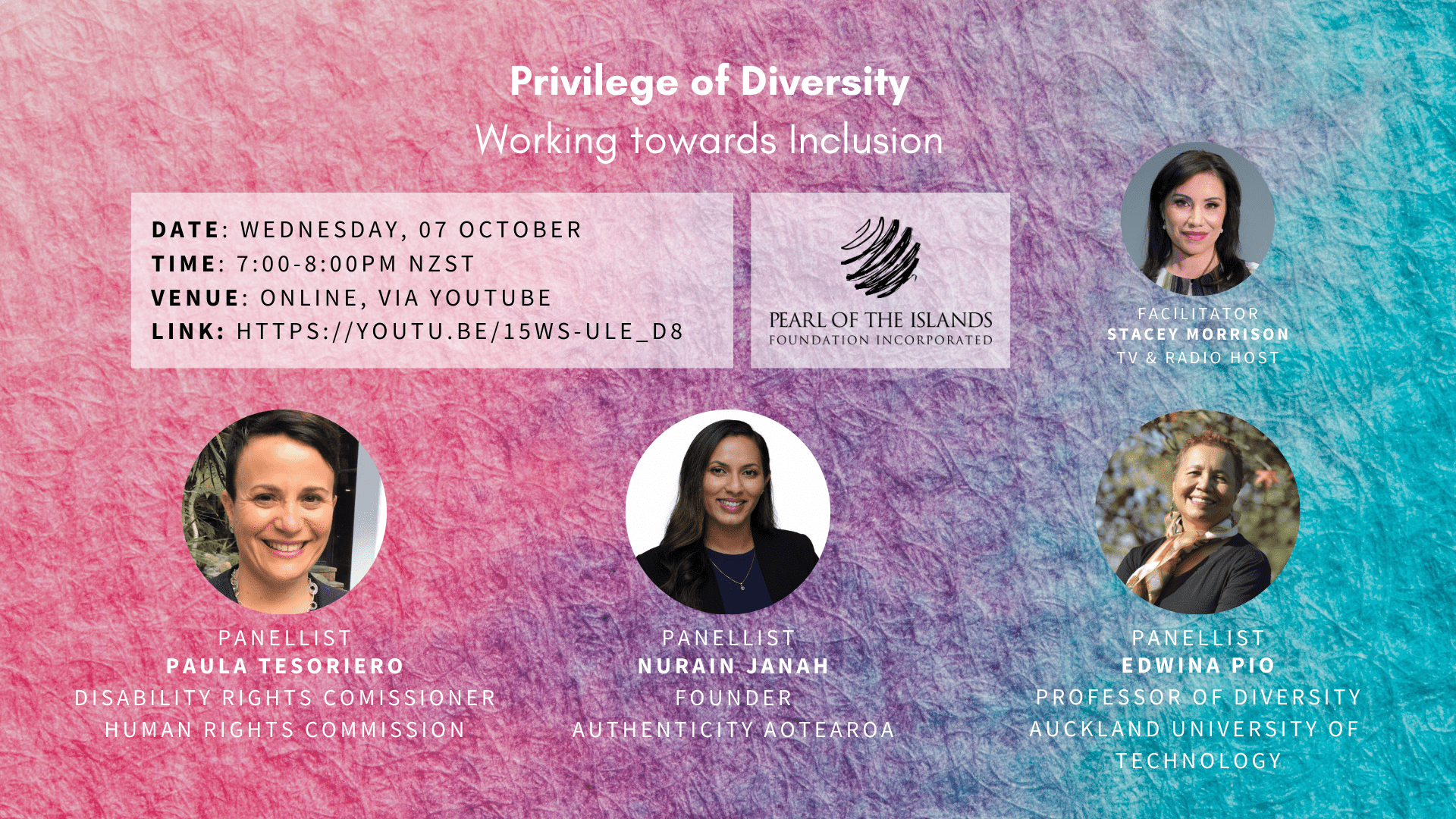 PANEL: Privilege of Diversity: Working towards Inclusion